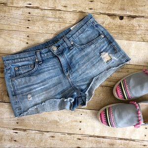 Rag & Bone Mika Cut Off Denim Shorts